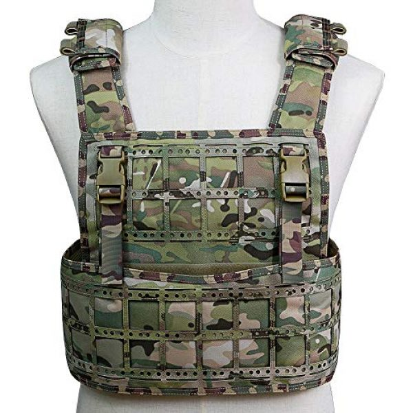BGJ Airsoft Tactical Vest 5 BGJ Airsoft Vest Tactical Vest Hunting Protection Military Molle Vest Adjustable Army Armor