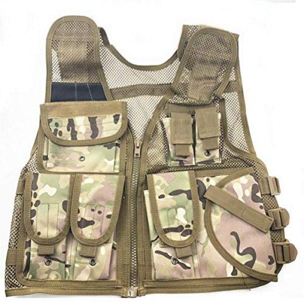 Shefure Airsoft Tactical Vest 1 Shefure New Adjustable Tactical Combat Training Vest Lightweight Mesh Tactical Breathable Vest Black