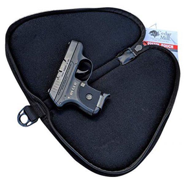 Cedar Mill Fine Firearms Pistol Case 3 Cedar Mill Fine Firearms - Deluxe Tactical Soft Pistol Gun Rug Case | Thick Double Padding