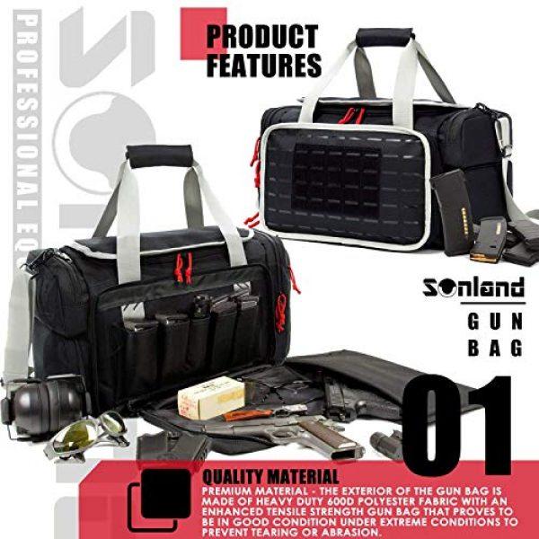 AUMTISC Pistol Case 2 AUMTISC Pistol Range Bag Tactical Shooting Gun Range Bag with Penty of Room for Handguns Lightweight Durable