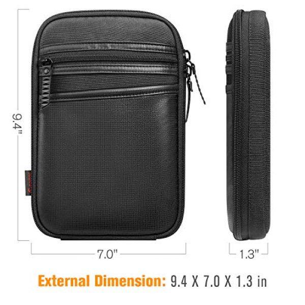 FINPAC Pistol Case 6 FINPAC Concealed Carry Gun Pouch, Pistol Holster Fanny Pack Waist Pocket for Handgun with Belt Loops, Black