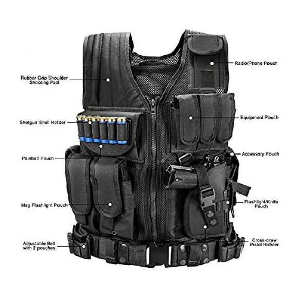 BGJ Airsoft Tactical Vest 3 BGJ Tactical Vest Military Combat Army Armor Vests Molle Airsoft Plate Carrier Swat Vest Outdoor Hunting Fishing CS Training Vest
