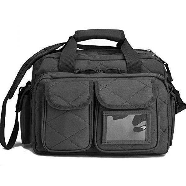 REEBOW TACTICAL Pistol Case 1 REEBOW TACTICAL Tactical Gun Range Bag, Deluxe Pistol Shooting Range Duffle Bags