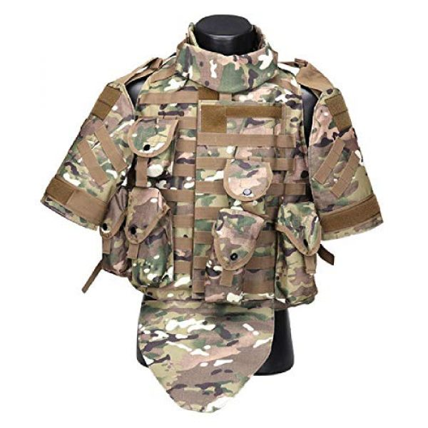BGJ Airsoft Tactical Vest 1 Tactics Camouflage Vest Phantom Protective Modular Vest Body Armor Airsoft Wargame Hunting Outdoor Sports Activities