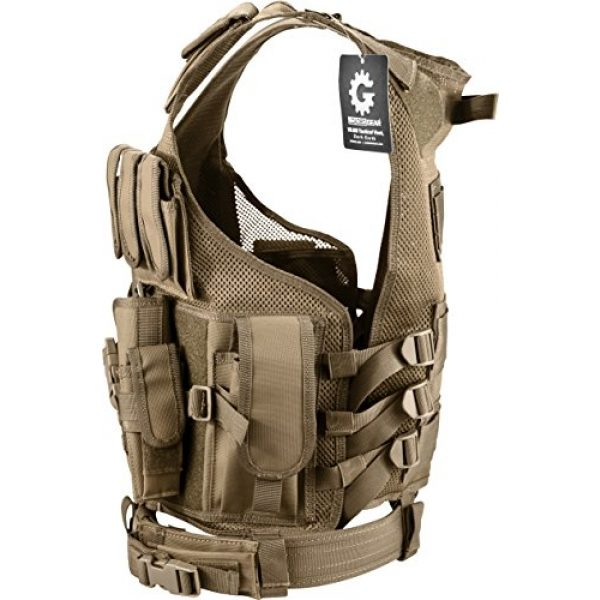 Loaded Gear Airsoft Tactical Vest 2 Loaded Gear New Tactical Vest Light Outdoor Training Vest Adjustable for Adults (Tan)