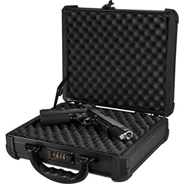 BARSKA Pistol Case 7 Loaded Gear AX-50 Hard Case, Medium, Black by BARSKA