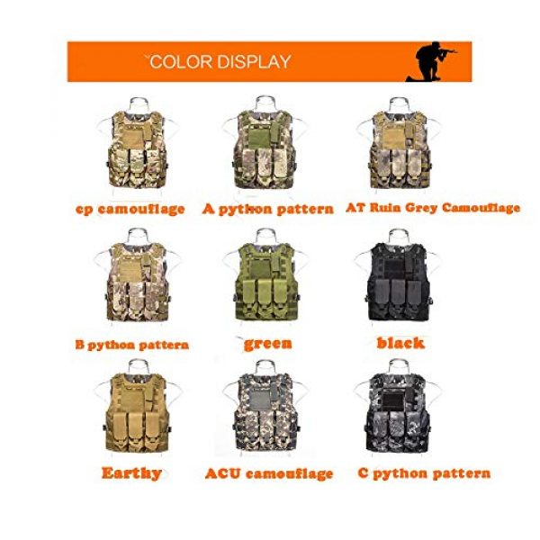 HAOWUTX Airsoft Tactical Vest 4 HAOWUTX Multifunctional Tactical Vest for Outdoor Camping, Hunting, Fishing, Hiking, Airsoft War Game CS (Color : Green)