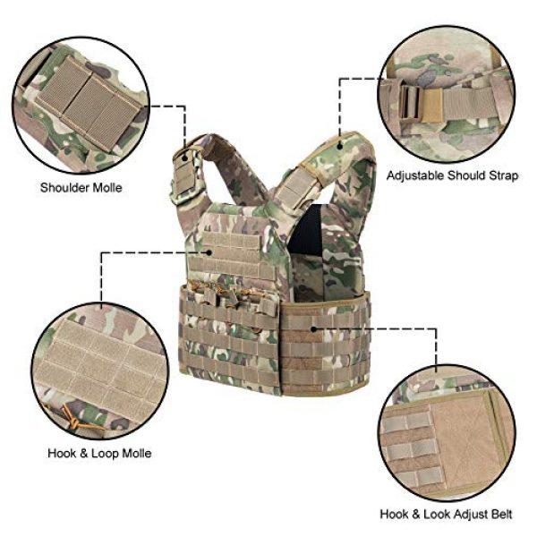 VISMIX Airsoft Tactical Vest 2 VISMIX Tactical Vest Adjustable Molle Military Vest for Men