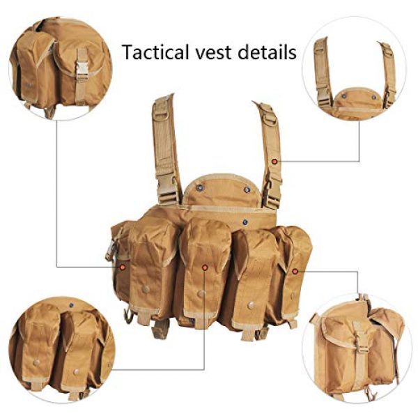 Yoghourds Airsoft Tactical Vest 2 Yoghourds Tactical Vest for MenBreathable Airsoft VestAdjustable Lightweight Outdoor Paintball Vest for Travelers, Hiking, River Guide Adventures and Hunting