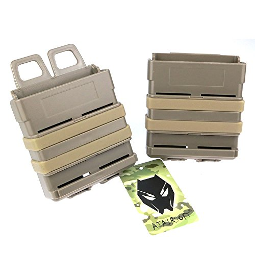 ATAIRSOFT  1 ATAIRSOFT Airsoft Fast Mag Magazine Pouch Holder Pouch Set 7.62 Molle System