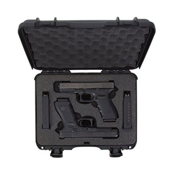 Nanuk Pistol Case 5 Nanuk 910 2UP Waterproof Hard Case w/Custom Foam Insert for Glock Pistols - Black