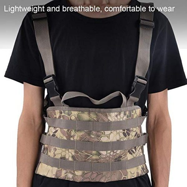 Yencoly Airsoft Tactical Vest 4 Yencoly Combat Vest, Good Flexibility Tactics Vest, Canteens Hospitals for Police Stations Military