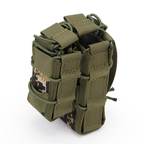 ATAIRSOFT  7 ATAIRSOFT Tactical 1000D Nylon Double MAG Pouch for Hunting Wargame Airsoft Molle Magazine Pouch