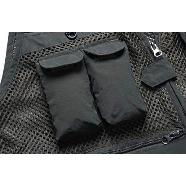 DAFREW Airsoft Tactical Vest 4 DAFREW Mesh Vest Multi-Function Quick-Drying Vest Outdoor Leisure Fishing Vest Multi-Pocket Breathable Vest (Color : Khaki, Size : XL)