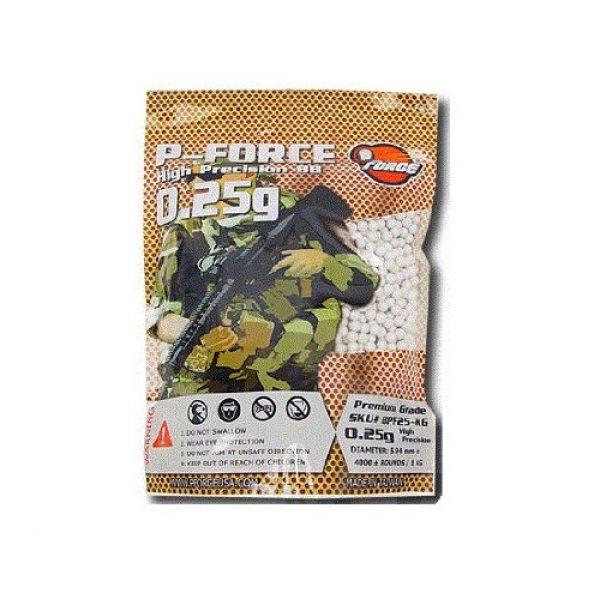 P-Force Airsoft BB 1 P-Force Super Premium 4,000 .25g Airsoft BB's (White)