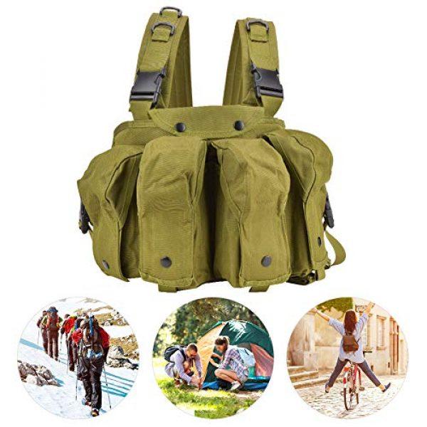 Yosoo Airsoft Tactical Vest 4 Yosoo Tactics Training Bag,Nylon Outdoor Tactics Vest Military Fan Camouflage Waistcoat Training Bag Equipment