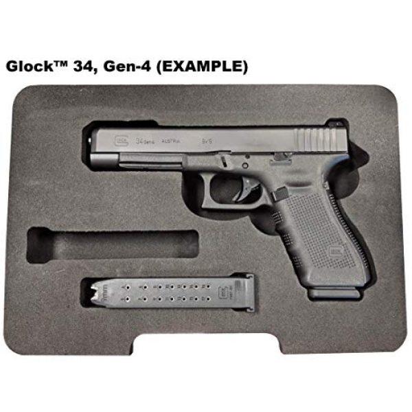 Cedar Mill Fine Firearms Pistol Case 7 Glock Compatible Go-Pack | Custom case with EVA display foam to protect your G17 9mm Gen1,2,3,4,5 G22 .40 Gen1,2,3,4,5 G19 19 9mm Gen1,2,3,4,5 G23 .40 Gen1,2,3,4,5 G26 9mm Gen1,2,3,4,5 G27 .40 Gen1,2