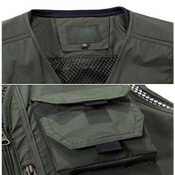 DAFREW Airsoft Tactical Vest 4 DAFREW Quick-Drying Vest Men's Summer Leisure Vest Outdoor Photography Vest Thin Section Sleeveless Shirt Fishing Vest (Color : Khaki, Size : L)