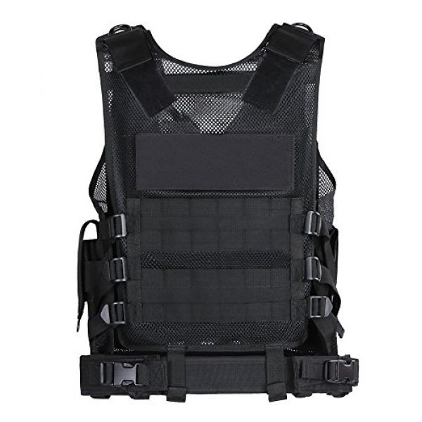 Idea- Airsoft Tactical Vest 2 Tactical Military SWAT - Adjustable Adult SWAT for Airsoft Paintball Combat Army Shooting Hunting Outdoor Molle Police Vest With Pistol Holster