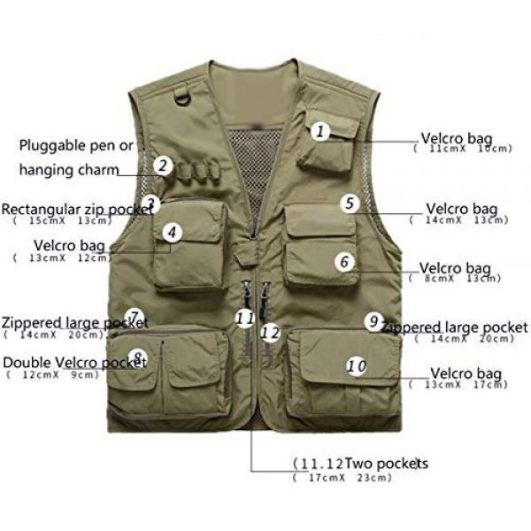 DAFREW Airsoft Tactical Vest 5 DAFREW Summer Vest Men's Quick-Drying Vest Outdoor Leisure Vest Multi-Pocket Detachable Vest (Color : Dark Blue, Size : M)