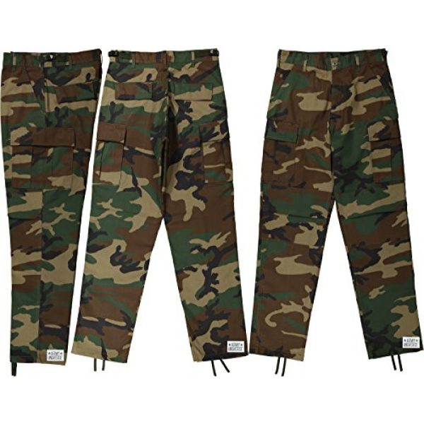 Army Universe Tactical Pant 4 Mens Woodland Camouflage Poly/Cotton Military BDU Army Fatigues Cargo Pants with Pin
