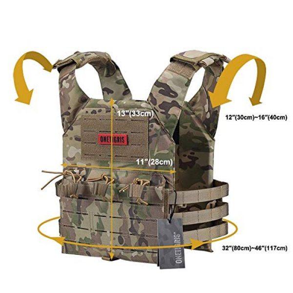 OneTigris Airsoft Tactical Vest 4 OneTigris Multicam Laser-Cut Modular Vest & Chest Rig for Men