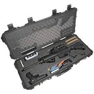 Case Club Rifle Case 1 Case Club AR-15 Pre-Cut Waterproof Rifle Case with Included Silica Gel to Help Prevent Gun Rust & Small Waterproof Accessory Box (Gen 2)