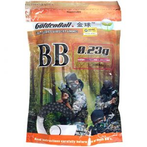 GoldenBall Airsoft BB 1 GoldenBall 0.23g Original Airsoft BBS 3000 Round Bag 6mm Seamless Proslick Japanese Domestic Market Advanced Professional Grade Performance AEG Specification Imported Manufacturing - Stealth Black