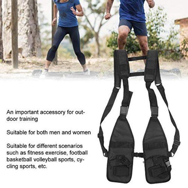 Alomejor Airsoft Tactical Vest 5 Alomejor Tactical Training Vest Simple Adjustable Vest Chest Backpack Army Fans Tactical Vest Outdoor Fitness Sports Training Suit for Airsoft Paintball Training