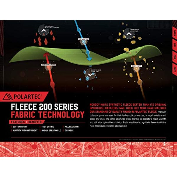 281Z Combat Boot Sock Liner 6 Military Warm 6 inch Liners Boot Socks - Outdoor Tactical Hiking Sport - Polartec Fleece Winter Socks (Green Khaki)