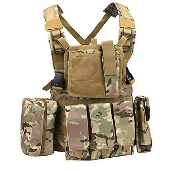 WEQ Airsoft Tactical Vest 1 WEQ Multifunctional Tactical Vest Modular Vest Reconnaissance Field CS Combat Vest (Color : #C)