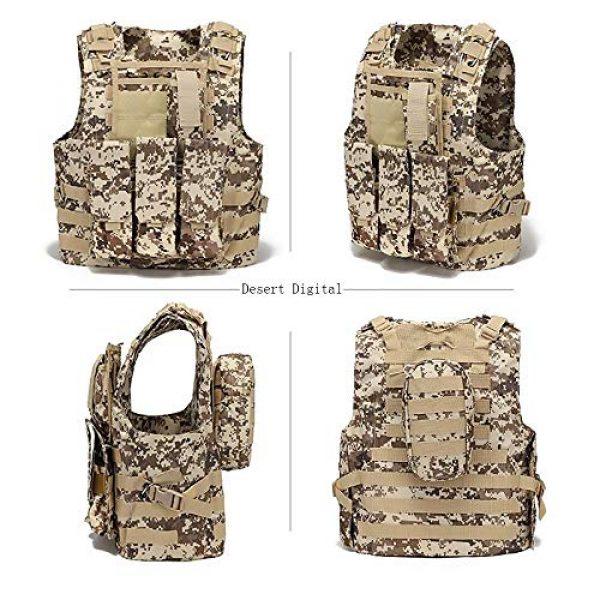 WEQ Airsoft Tactical Vest 2 WEQ Tactical Vest Outdoor Amphibious Vest Ultra-Light Breathable Combat Training Vest Adjustable for Adults(Standard Size) (Color : #F)