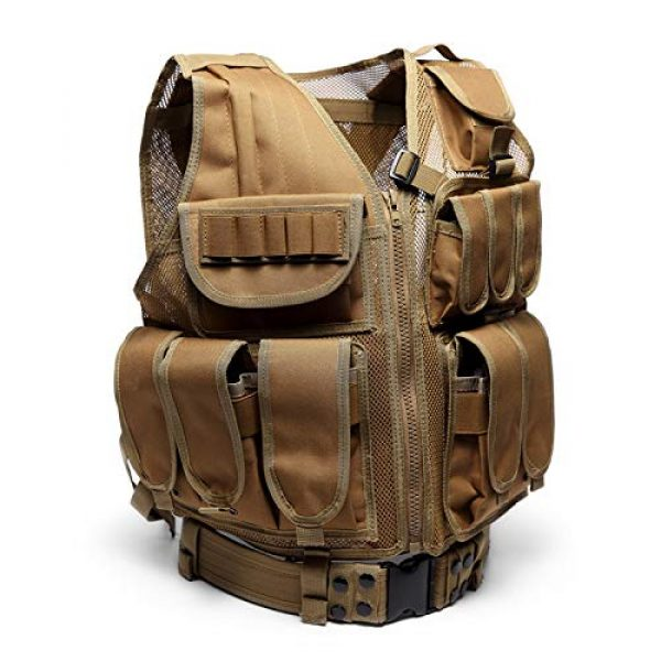 MR.CHAOS Airsoft Tactical Vest 1 MR.CHAOS Tactical Vest Combat Training Vest Adjustable Outdoor Breathable Mesh Fabric CS Combat Equipment