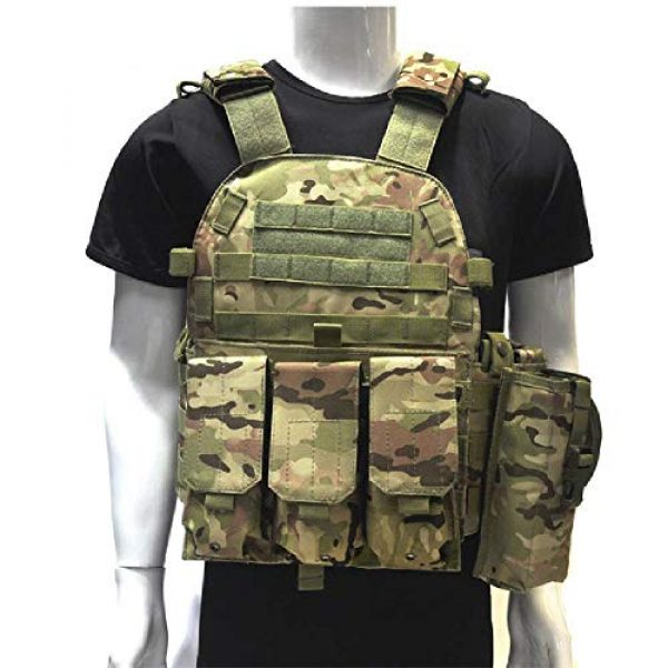 BGJ Airsoft Tactical Vest 1 Outdoor Airsoft Gear 6094 Tactical Molle Vest Paintball CS Games Protection Body Armor Military Shooting Combat Training Vest