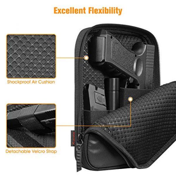 FINPAC Pistol Case 3 FINPAC Concealed Carry Gun Pouch, Pistol Holster Fanny Pack Waist Pocket for Handgun with Belt Loops, Black