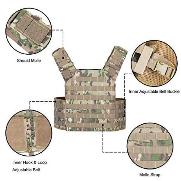 VISMIX Airsoft Tactical Vest 3 VISMIX Tactical Vest Adjustable Molle Military Vest for Men