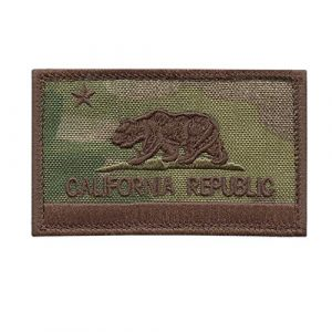 LEGEEON  1 LEGEEON California State Flag Multicam OCP USA Army Tactical Morale Hook-and-Loop Cap Patch