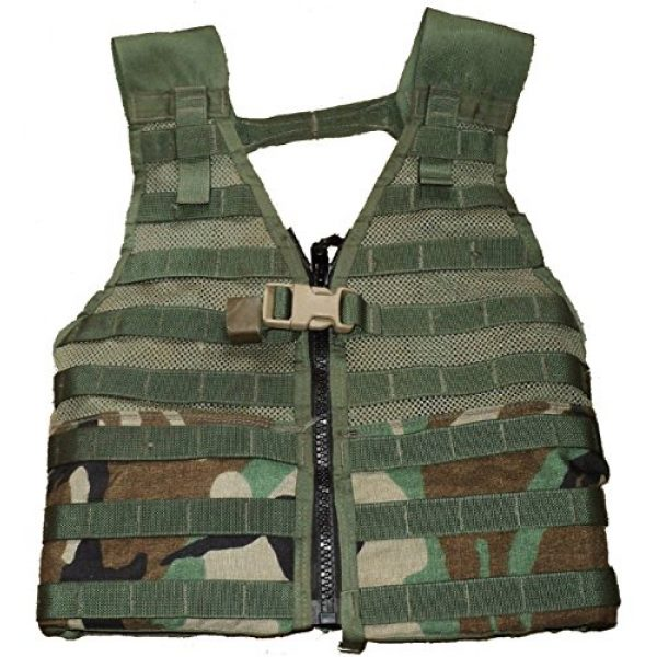Military Outdoor Clothing Airsoft Tactical Vest 1 Military Outdoor Clothing Previously Issued U.S. G.I. Woodland MOLLE II Fighting Load Carrier (FLC) Vest
