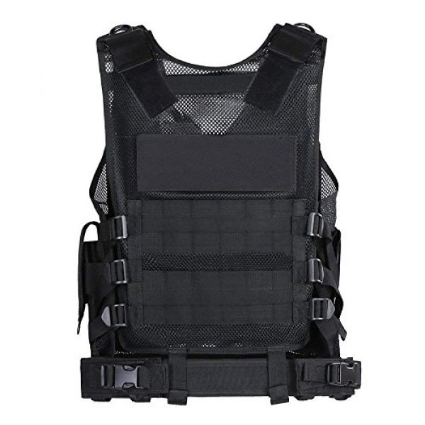 TongBF Airsoft Tactical Vest 5 TongBF Tactical Outdoor Military CS Field Vest Ultra-Light Breathable Combat Training Adjustable Vest