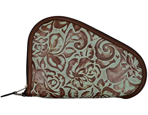 3D Belt Pistol Case 1 3D Turquoise and Brown Small Pistol Case