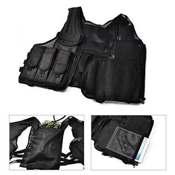 GXYWAN Airsoft Tactical Vest 6 GXYWAN Tactical CS Field Vest Paintball Training Airsoft Ultra-Light Breathable Combat Adjustable Vest(Black)