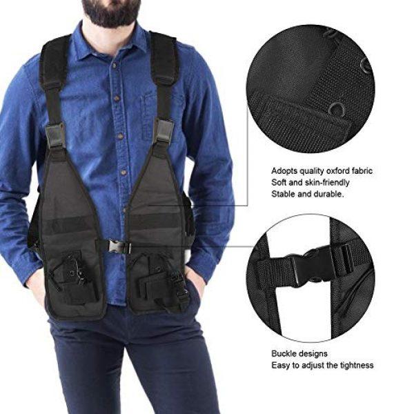 Alomejor Airsoft Tactical Vest 4 Alomejor Tactical Training Vest Simple Adjustable Vest Chest Backpack Army Fans Tactical Vest Outdoor Fitness Sports Training Suit for Airsoft Paintball Training