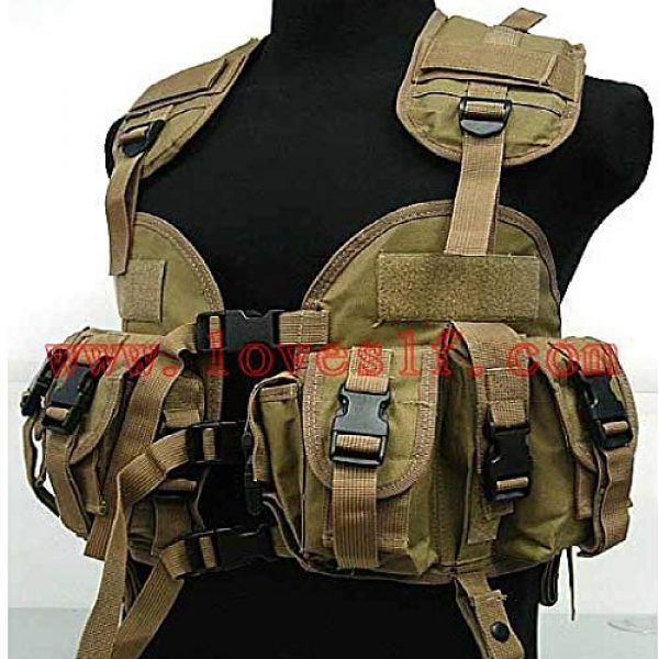 BGJ Airsoft Tactical Vest 1 Tactical Police Military Vest Wargame Sports Wear Airsoft Paintball Carrier Strike Vest with Water Bag