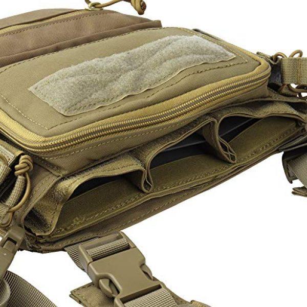 OAREA Airsoft Tactical Vest 5 OAREA Hunting Tactical Vest Magazine Pouch Modular Chest Rig Set Drop Pouch 3PCS Mag Insert Set