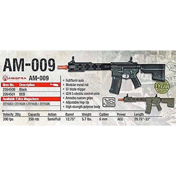 Elite Force Airsoft Rifle 3 Elite Force Amoeba AM-009 AEG Powered Automatic 6mm BB Rifle Airsoft Gun, Dark Earth Brown, One Size (2264501)