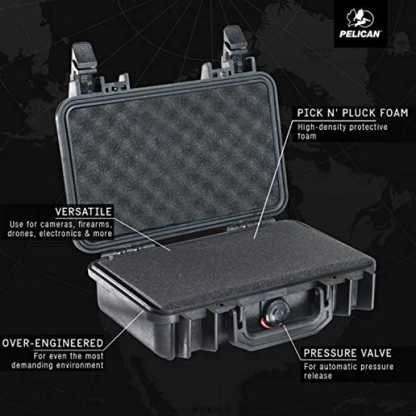 Pelican Pistol Case 3 Pelican 1170 Case With Foam (Black)