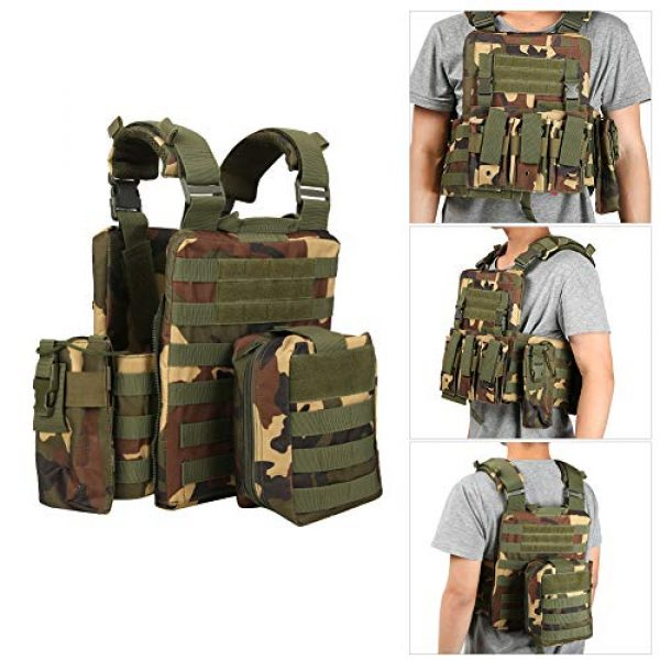 Meiyya Airsoft Tactical Vest 4 Meiyya Lightweight Molle Tactics Wear Resistant Adjustable Outdoor Waistcoat, Outdoor Tactics Waistcoat, Multi Pocket for Put Items Items