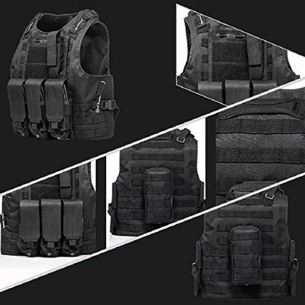 BGJ Airsoft Tactical Vest 3 BGJ Tactical Vest Airsoft Military Tactical Vest Molle Combat Attack Onboard Tactical Vest CS Outdoor Clothing Hunter Tactical Vest
