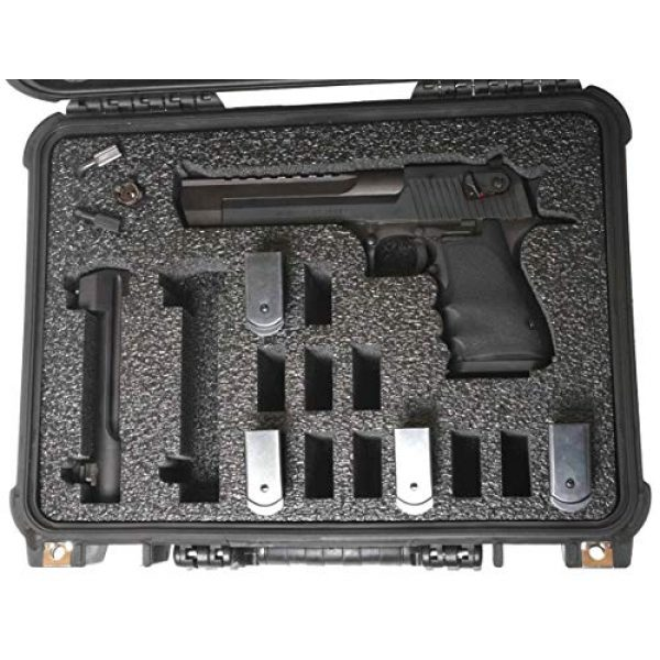 Case Club Pistol Case 2 Case Club Desert Eagle Fully Loaded Pre-Cut Waterproof Case