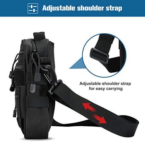 Kosse Pistol Case 6 Kosse Pistol Bag, Military Gear Tactical Handgun Shoulder Strap Bag Gun Ammo Accessories Pouch Shooting Range Duffle Bag for Shooting Range Sport